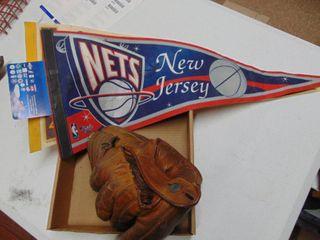 baseball mit and NBA pennants