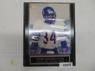 walter peyton photo plaque