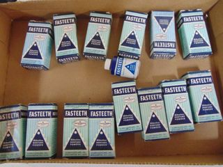 vintage denture powder  times and boxes