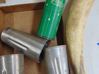 Tall Mixing cups and horn