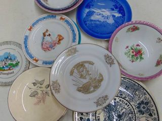Misc  plates including Disney land and lion king
