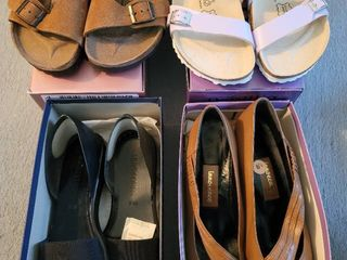 lot of 4 Womans Shoes   2 Birkies  Nordstrom  Innocence Sizes 8 5