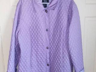 Dennis Basso lavender Silk Coat Size large