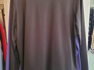 lot of 7 Solid Color long Sleeve Womans Blouses Susan Graver Size large