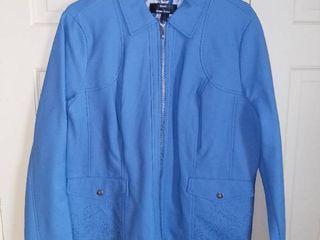 Dennis Basso Blue Jacket Size large