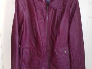 Dennis Basso Maroon Jacket Size large