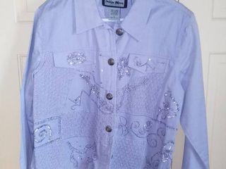 Indigo Moon lavender Cotton Jacket Size large