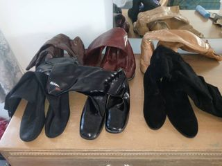 6 Pair lot Of Assorted Boots Sizes 7 8 5