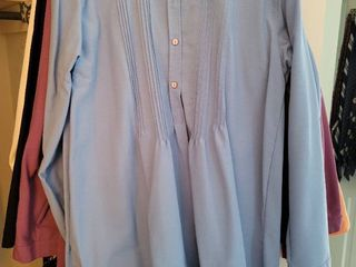lot of 7 Travel Smith Womans Size large Blouses