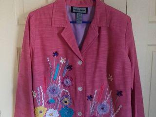 Indigo Moon Pink Floral Jacket Size large