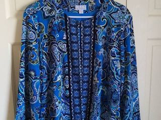 Joan Rivers Blue Top Size large