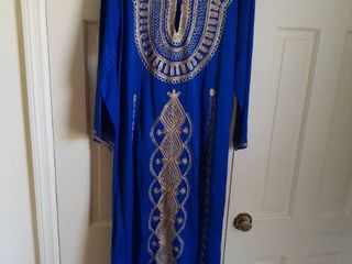 Beautiful Blue and Gold Middle Eastern Dress