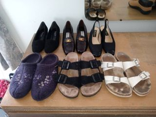 lot Of 6 Pairs Of Assorted Womens Shoes Sizes 7 8 5