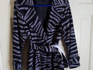 linea by louis Dell Olio Zebra Striped Jacket Size large