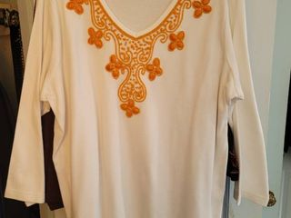 lot of 5 Quality Factory Size Xl Womans Beaded Blouses