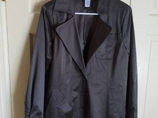 linea by louis Dell Olio Brown Blazer Jacket With Belt Size large