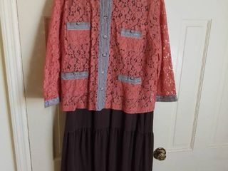 linea by louis Dell Olio Top With Brown Denim and Co  Dress Size large