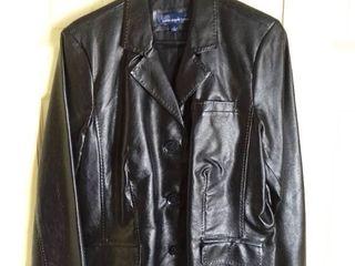 Susan Graver Style Black Poly Jacket Size large