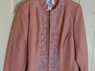 Susan Graver Style Rayon Embroidered Jacket Size large