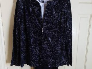 Susan Graver Style Black and White 3 Piece Outfit Size large