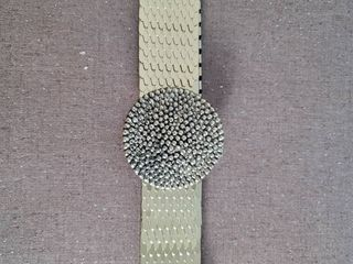 Gold Tone Elastic Vintage Womans Belt