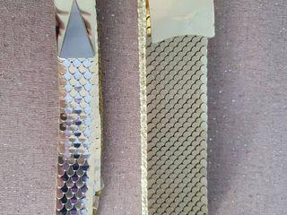 lot of 2 Gold Tone Womans Fashion Belts
