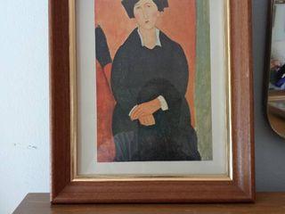 Small Vintage Framed Modigliani Artwork