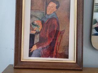 Vintage Framed Modigliani Artwork