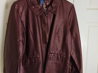 Susan Graver Style Brown Polyurethane Jacket Size large