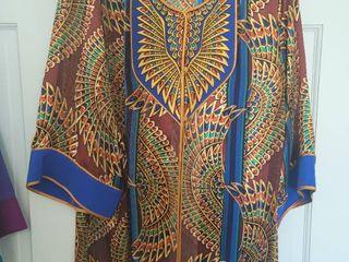 100  Silk Bob Mackie Size large Sheer Womans Blouse