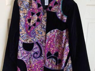 Spirit by Sandy Starkman Cotton Jacket With Paisley Design Size large