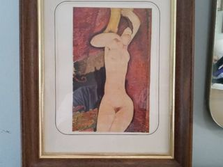 Beautiful Artists Framed Work Of The Female Form