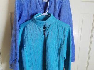 2 Norm Thompson Comfort Collection Cotton Blend Soft Jackets Size Medium