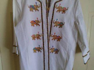 Bob Mackie White Elephant Jacket Size large