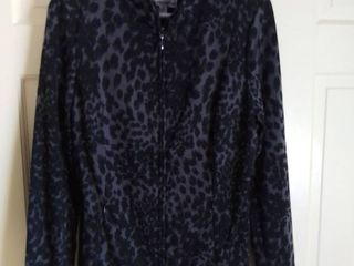 linea by louis Dell Olio Poly Blend Animal Print Jacket Size Medium