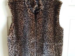 Starfire Faux Fur Vest Jacket Size large