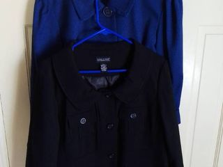 2 Dialogue Poly Blend Jackets Size large Black and Bkue