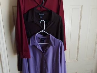 3 Dialogue Polyester long Sleeve Shirts Size large