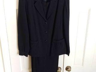 Dialogue Black Sparkly Pant Suit Size 16