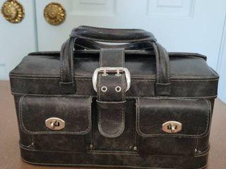 Charcoal Womans Handbag   lots of Pockets