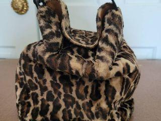 Vintage Koret leopard Print Adjustible Form Womans Hand Bag