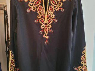 Black Stitched Design Bob Mackie