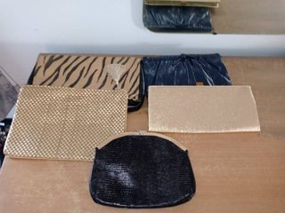 lot Of 5 Different Cool Hand Clutch Bags