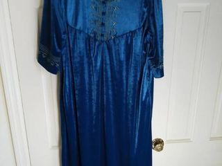 Blue Green Velour Night Gown No Tags