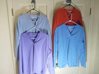 4 Denim and Co  Soft Polyester V Neck Sweatshirts Size large