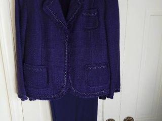 Purple Dialogue 3 Piece Pant Suit Size 16