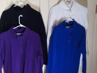 4 Denim and Co  Soft Polyester Pullovers Size large