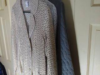 2 Susan Graver Jackets Size large and Reversible Corduroy Animal Print Jacket