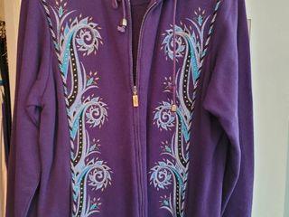 Purple Bob Mackie Sewn Jacket Size large