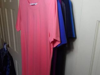 6 Susan Graver T Shirt Dresses in Different Colors Size large